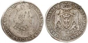 Poland Danzig 1 Thaler 1649 GR John II Casimir Vasa (1649-1668). Avese: Small king...