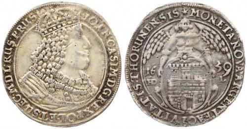 Poland THORN 1 Thaler 1659 HDL John II Casimir Vasa (1649-1668). Averse...