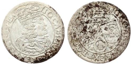 Poland 6 Groszy 1662 GBA Lwow. John II Casimir Vasa(1649-1668). Averse...