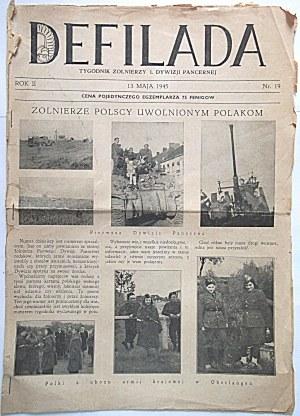 DEFILADA. Tygodnik Żołnierzy I Dywizji Pancernej. [Niemcy], 13 mają 1945. Rok II. Nr. 19