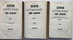 DZWON LITERACKI. Pismo zbiorowe. W-wa 1846. Tom IV. Druk i format jak wyżej. s. 397