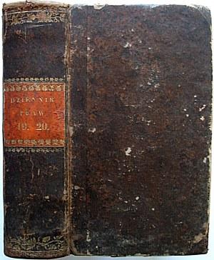 DZIENNIK PRAW TOM 19 i 20. nr 66 - 67 ; 68 - 69 - 70. [W-wa 1836/1837]. Format 10/18 cm. s. 339