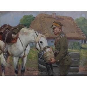 Jerzy Kossak, Ułan pojący konia