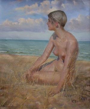 Zygmunt Nirnstein(1894-1969)[A.Siemaszko], Dziewczyna na wydmach