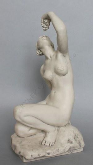 """J. Sommer, Rzeźba """"Akt - kobieta z winogronami"""""""