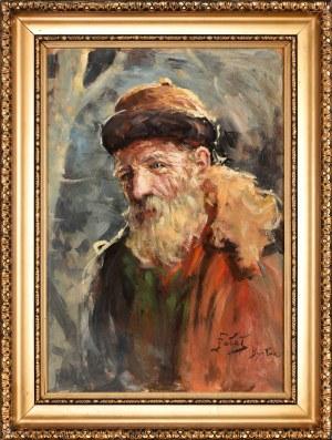 Julian Fałat (1853-1929), Portret chłopa