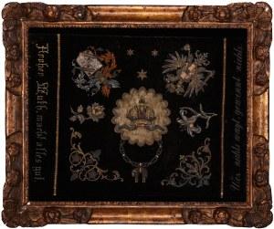 Makata Orderu Złotego Runa, tkanina z haftem / 38 x 48 cm [w świetle ramy]