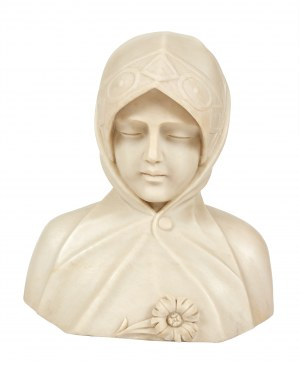 Adolfo Cipriani (1857-1941), Popiersie młodej kobiety, przeł. XIX/XX w.