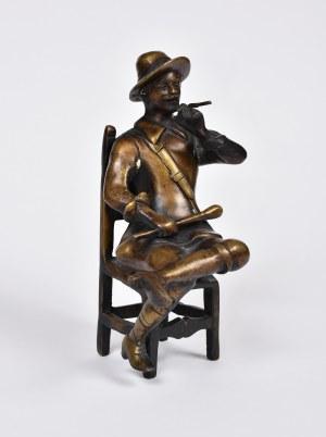 Autor Nieokreślony, Palący cygaro, 1920. XX w.