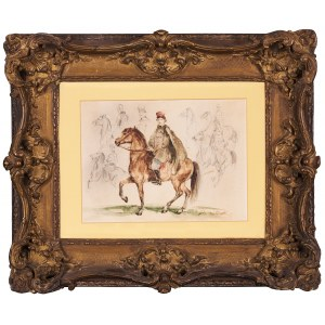 Piotr Michałowski (1800-1855), Jeździec w czerwonej czapce