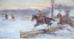 Jerzy Kossak (1886-1955), Pogoń za bolszewikami, 1931