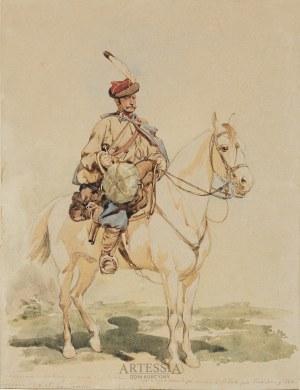 Juliusz Kossak (1824-1899), Trębacz 13 pułku ułanów galicyjskich, ok.1866