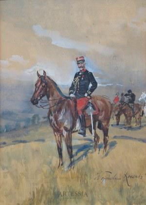 Wojciech Kossak (1856-1942), Portret konny hrabiego Foucauld, ok.1900