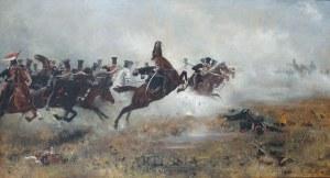 Józef Ryszkiewicz (1856-1925), Szarża ułanów Księstwa Warszawskiego pod Borodino, 1893