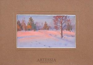 Basile Poustochkine (1893-1973), Pejzaż zimowy