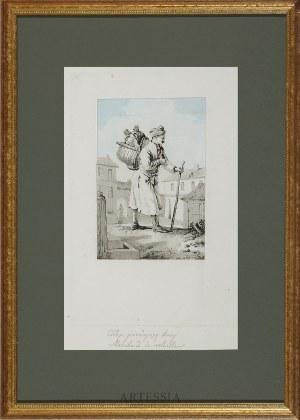 Louis Philibert Debucourt (1755-1832), wg J.P. Norblina, Chłop przedający kury, 1817