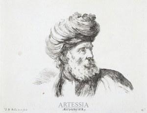 Stefano Della Bella (1610-1667), Popiersie mężczyzny w turbanie, ok. poł. XVII w.