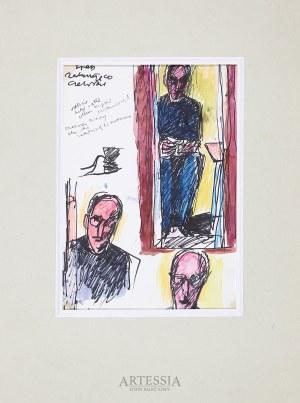 Józef Czapski (1899-1993), Szkice do autoportretu w lustrze, ok. 1975