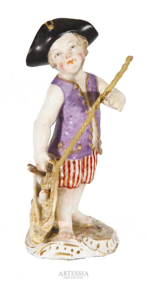Miśnia, Saksonia, figurka Mały rybak, XVIII w.