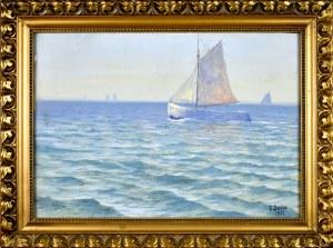Soter Jaxa-Małachowski (1867-1952), Żaglówka na morzu, 1932