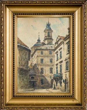 Tadeusz (Ojciec) Cieślewski (1870-1956), Warszawa - widok na Stare Miasto