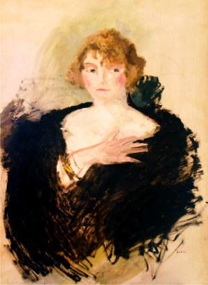 Aneri Irena Weissowa (1888-1981), Portret kobiety w czarnej etoli, ok. 1910