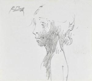 Roman Banaszewski (Ur. 1932), Szkic popiersia kobiety z lewego profilu