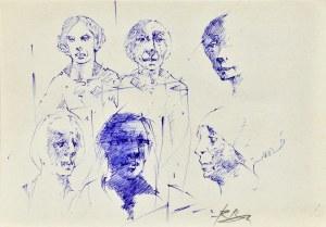 Roman Banaszewski (Ur. 1932), Szkice głów postaci