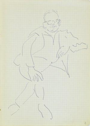 Jerzy Panek (1918-2001), Autoportret siedzący