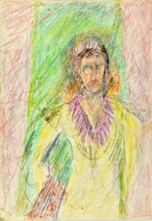 Krystyna Pelletier (1914-2007), Postać kobieca - rysunek dwustronny