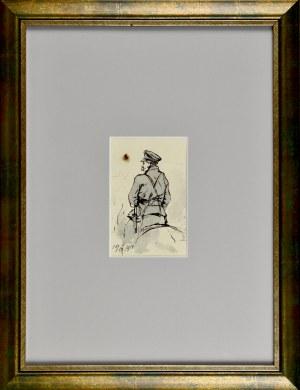 Tadeusz Rybkowski (1848-1926), Żołnierz Legionów Piłsudskiego w siodle, 1919