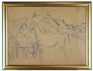 Juliusz Holzmüller (1876 - 1932), Koń przy wozie