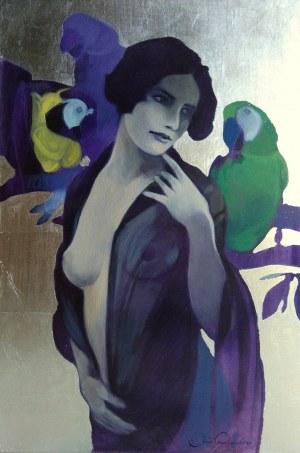 Jakub Godziszewski, Kobieta z papugami, 2020