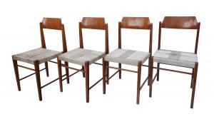 4 krzesła z wyplatanymi siedziskami - typ 200-185, Irena ŻMUDZIŃSKA (ur. 1921)