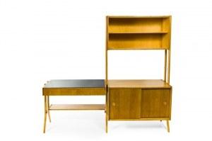 Regał i biurko z kombinatu mebli