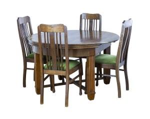 Stół okrągły - rozkładany, na 12 osób oraz 12 krzeseł