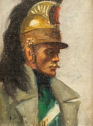 ARTYSTA NIEZNANY, Portret mężczyzny, 1924