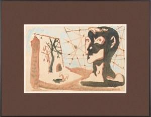 Jerzy JANISCH (1901 - 1962), Figura w pejzażu, 1957