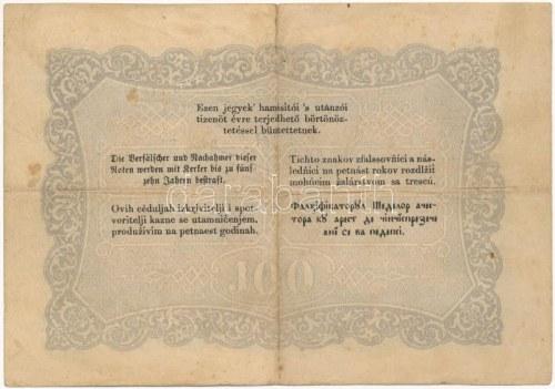 1848. 100Ft Kossuth bankó T:III fo. / Hungary 1848. 100Ft Kossuth banknote C...