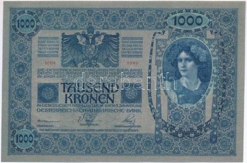 1902. 1000K felülbélyegzés nélkül T:I,I- / Hungary 1902. 1000 Korona without overprint C:UNC...
