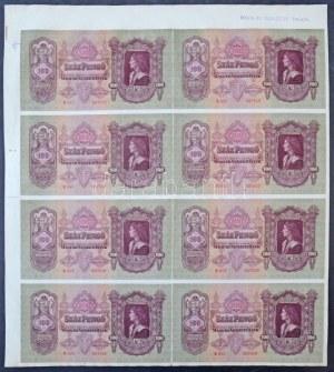 1930. 100P 8db-os vágatlan MINTA ÍV,