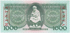 1983. november 10. 1000Ft C 00000255 sorszámmal, piros MINTA felülnyomással és perforációval T:I / Hungary 10.11...