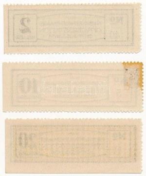 Ostffyasszonyfa / Hadifogolytábor 1916. 2h + 10h + 20h, I. kiadás T:I,I- egyiken ragasztónyom / Hungary ...