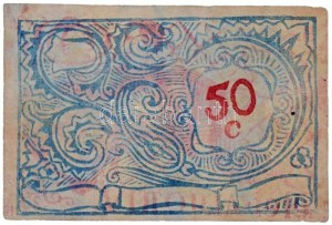 Olaszország / Szicília / Vittoria / Hadifogolytábor 1919. 50 Cent. Szign: SB (Szerekes Béla) T:III / Italy / Sicily ...