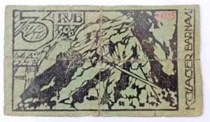 Orosz Birodalom / Barnaul / Tiszti hadifogolytábor ~1918. 3R piros kézi sorszámmal, hátlapon kézi és bélyegzős aláírás...