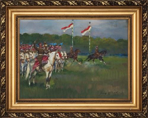 Jerzy Kossak (1886-1955), Parada kawalerii, 1935