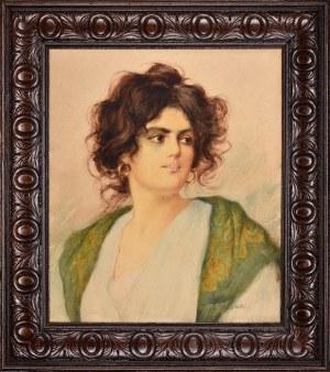 Stanisław Dębicki (1866-1924), Portret kobiety, 1920.