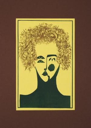 Irena Molik-Niżnik (Ur.1948), Twarz kobiety - żółta, 1976