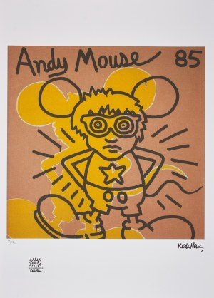 Keith Haring (1958-1990), Andy mouse,1985