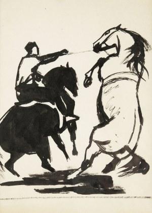 Ludwik Maciąg (1920 Kraków - 2007), Kompozycja z końmi